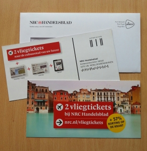 marketingactie NRC vliegtickets