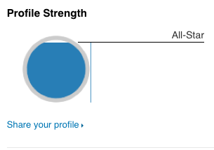 Profile Strength LinkedIn