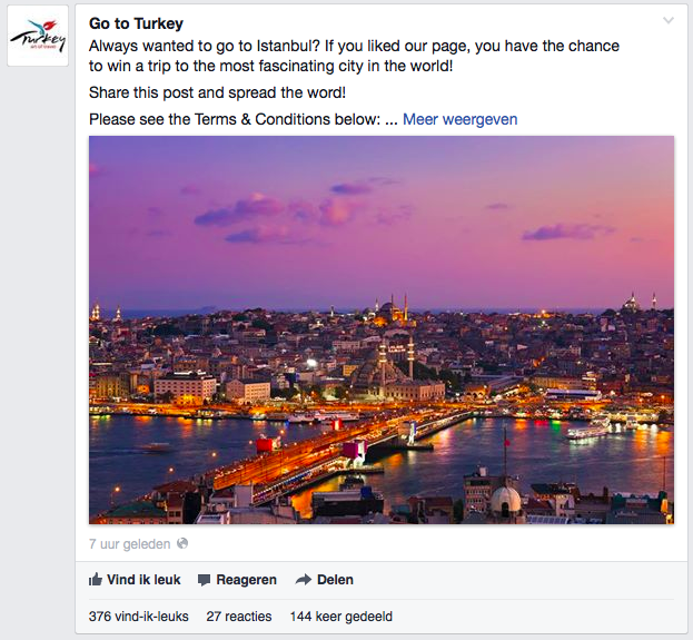 Win trip facebook