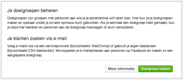 Doelgroepen maken Facebook