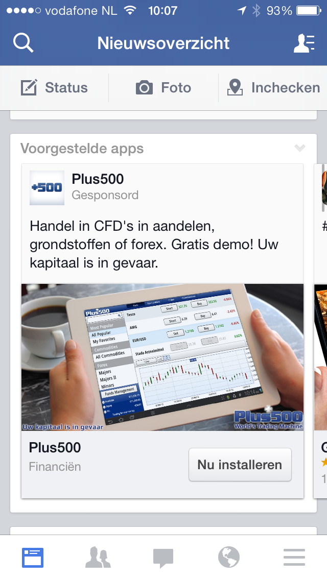 Mobiele Ads Facebook