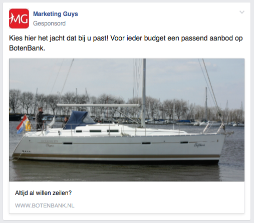 Facebook Ad vvoorbeeld