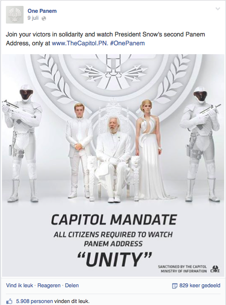 Facebook The Hunger Games