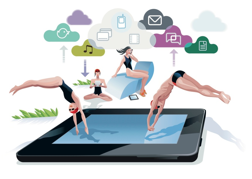 Vakantie iPad cloud mobiel digitaal online