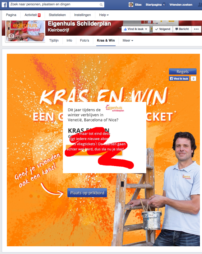 KrasenWin Facebook Actie