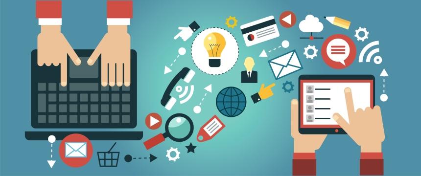 Online marketing cartoon